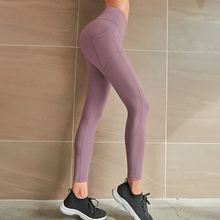 اليوغا طماق سلس عالية الخصر المرأة مع جيوب تجريب تنفس اللياقة البدنية الملابس سروال التدريب سراويل الإناث