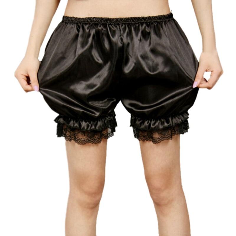Lace Trim Shorts Pumpkin Female Thin Plus Size Lantern Safety Short Pants Women Solid Color Summer
