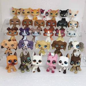 Image 1 - random cute pet shop animal lpstoys standing short hair cat dachshund collie spaniel great dane action figure toys for children