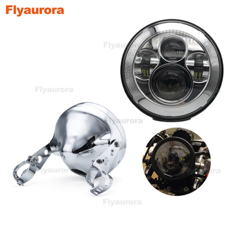 Motorcycles accessories 7 inch Led Headlight with angle eye for honda cb400 Motorcycles 7inch housing bucket trim ring Flyaurora