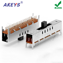 10pcs One key ss-49d01 vertical pin 9 level double knife row micro power slide push toy wave switch