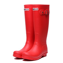 Купить с кэшбэком Rubber Rainboots Tall Rain Boots for Women British Classic Waterproof Hunter Rainboots Ladies Wellies Wellington Matte Boots