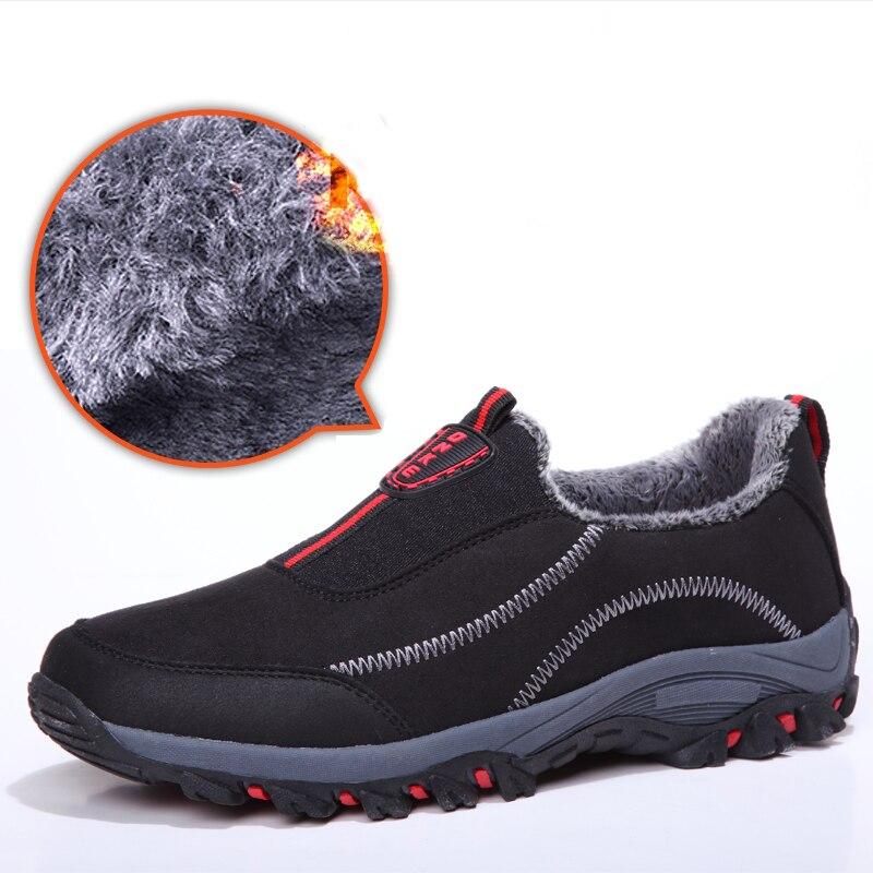 Men Boots Winter Shoe Big Size Warm Snow Ankle Botas Hombre Men Unisex Leather Winter Boots Shoes Men Plush Winter Sneakers Mens