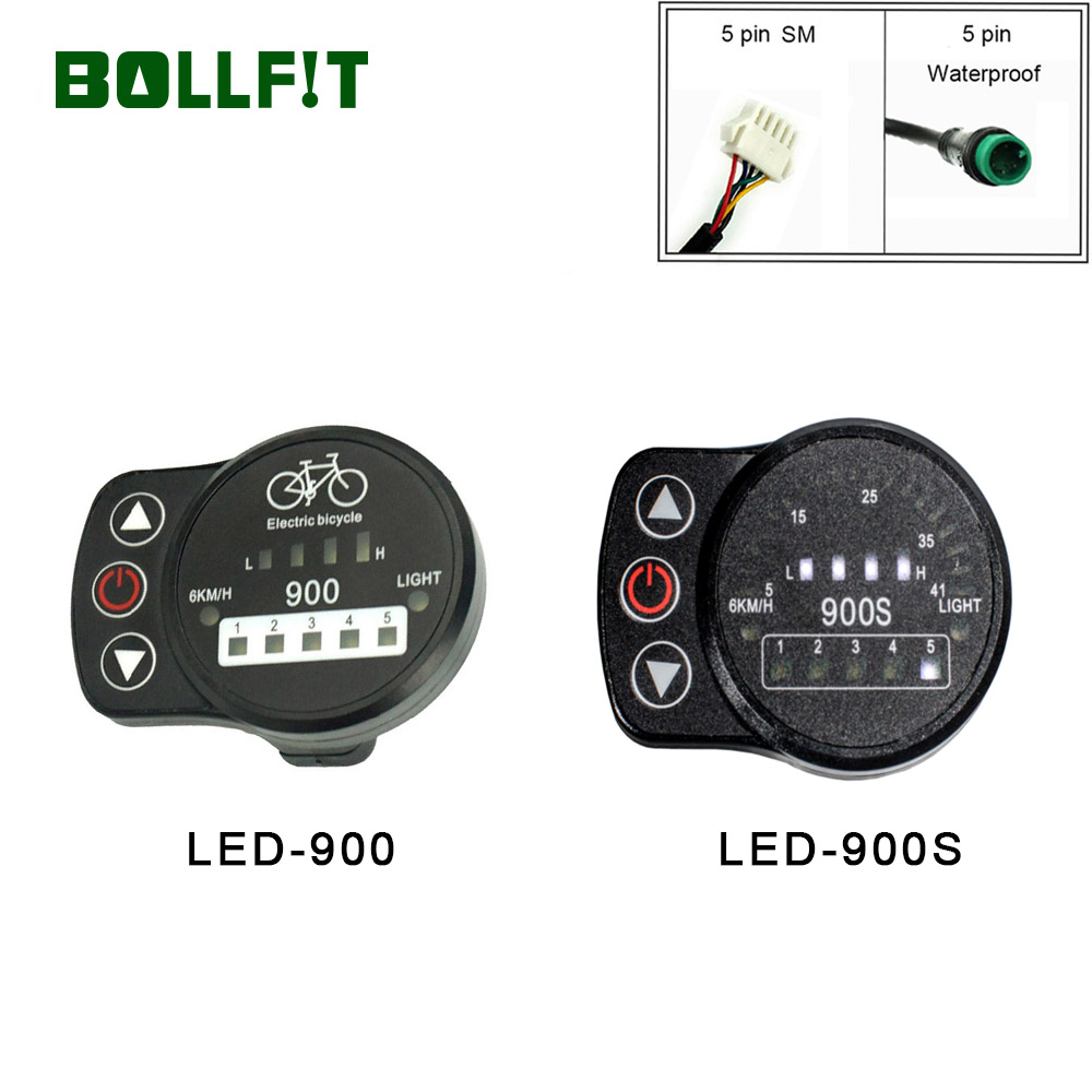 Electric Bike 36V 48V 3 Speed LED Control Panel Display Meter 890 E-bike KIT
