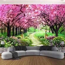 Cherry Blossom Trees Wall Mural Wallpaper WS-42634