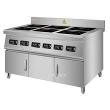 Коммерческая индукционная плита с 6 головками кухонная посуда
