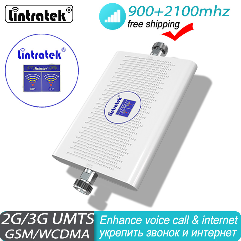 FreeShipping Signal Booster GSM 900 2100 Mhz 2G 3G Repeater UMTS Cell Amplifier 3G WCDMA 2100 75db Cellular Signal Booster#40