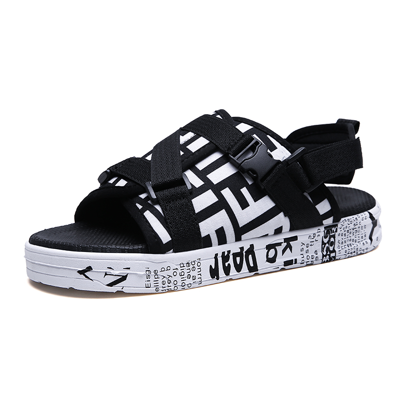 New Men's Sandals, Detachable Slippers, Dual-purpose Shoes, Driving Shoes, Fashion Prints, Personalized Men's Shoes