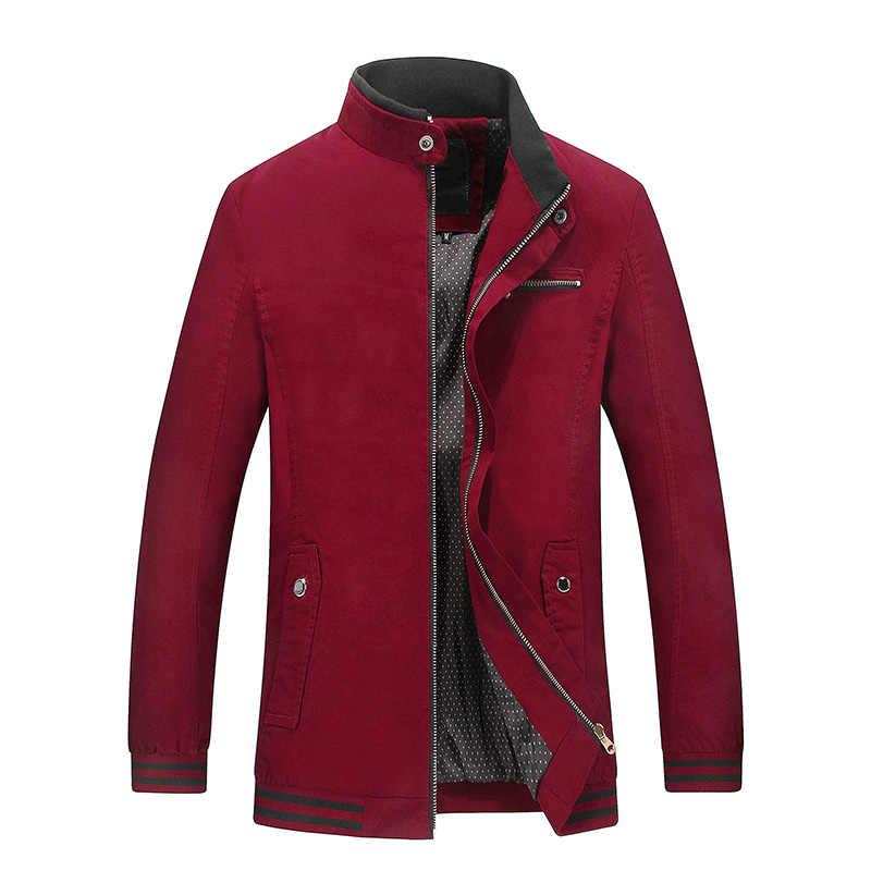 HCXY мужские отборные пальто куртки Мужская куртка пальто Мужская Верхняя одежда стоячий воротник рукав на резинке тонкий крой полный 100% хлопок