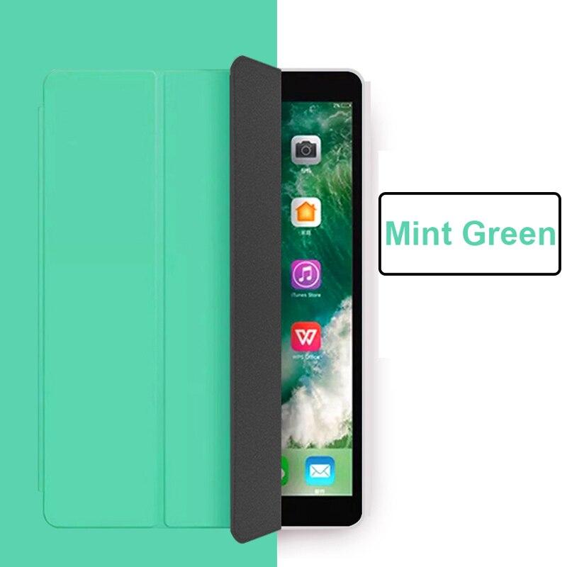 Mint Green Yellow Funda iPad Pro 11 2021 case PU Leather Tri fold Case For iPad 11 Case Tablet