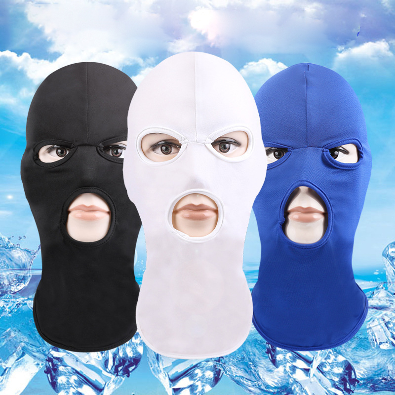 1pc Summer Cool Face Mask Solid Fashion Balaclava Head Cover Cycling Face Mask Man Women Unisex Adult Hat Face Mask Balaclava