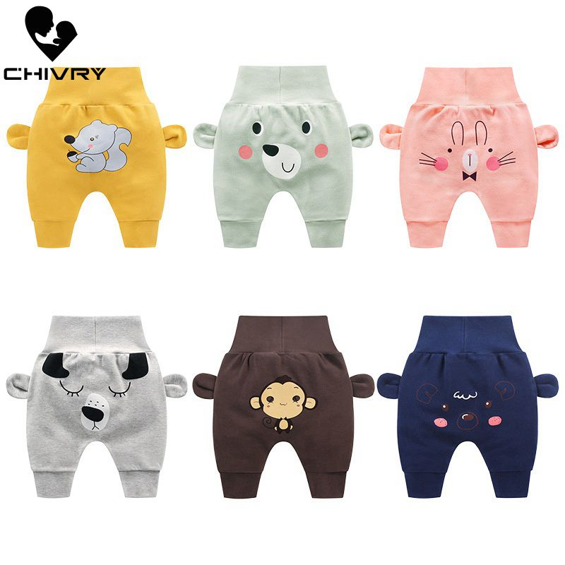 Chivry Spring Autumn 2019 New Girls Boys Cute Cartoon Animals Print Cotton Elastic Waist Pants Casual Kids Baby Clothing-in Pants from Mother & Kids on AliExpress