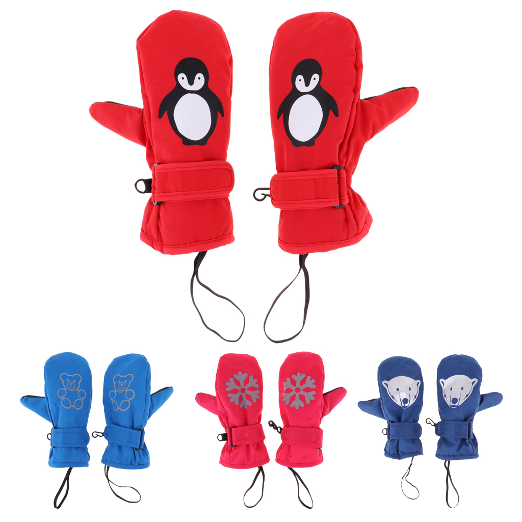 Waterproof Kids Thermal Ski Mittens Gloves For Cycling Hiking Snowboarding Kids Ski Mittens Skiing Gloves Winter Ski Gloves