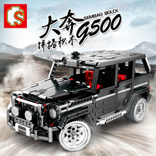 LegoEDS Technic MOC Mercedesd Benzd SUV G500 AWD Wagon Car Model Kit Building Stacking Blocks For Kids Educational Toys DIY Gift