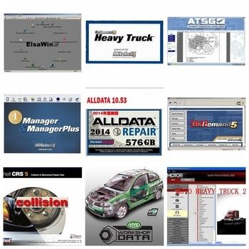 2020 high quality Alldata Mitchell Software AutoData 3.38+All data 10.53+mitchell on demand 2015+ElsaWin+Vivid+atsg in 1tb HDD