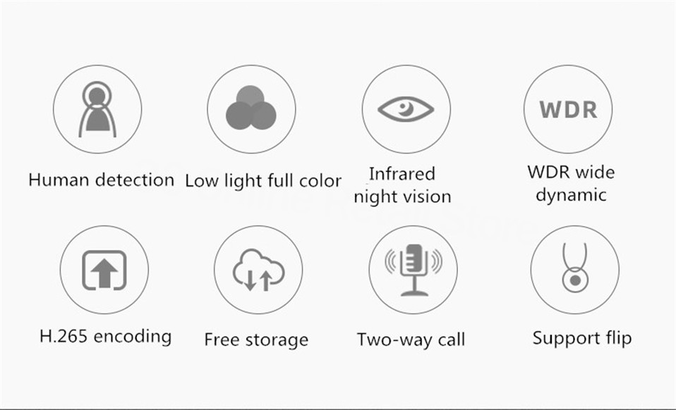 wifi visão noturna webcam câmera de vídeo