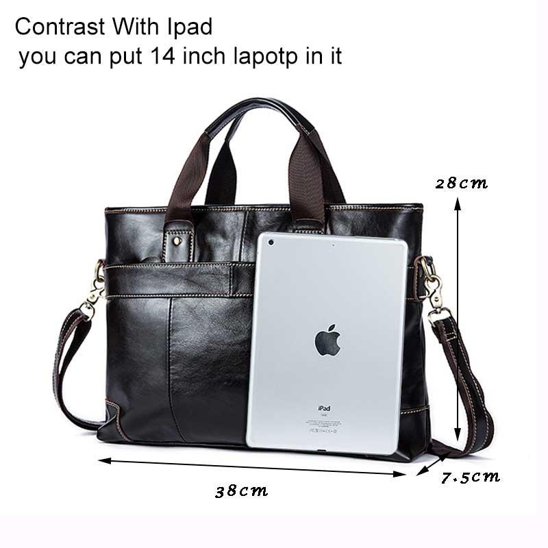MVA Leder Laptop Tasche Aktentasche Männlichen Echtem Leder Handtaschen Tote Männer Messenger Bags Business Aktentaschen tasche männer für dokumente-in Aktentaschen aus Gepäck & Taschen bei  Gruppe 2