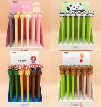 36pcs/pack many designs cartoon Mario panda bear princess monkey alpaca groot creative gel pen water Rollerball pen sign pen - DISCOUNT ITEM  12 OFF Education & Office Supplies