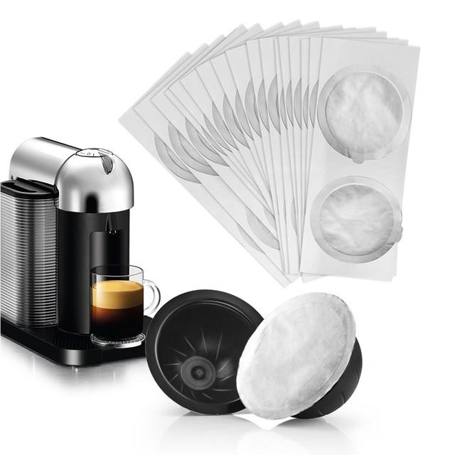 Capsules rechargeables de Nespresso Vertuo, autocollant, dosettes jetables de Nespresso Vertuoline, auto adhésif, couvercle de Film en aluminium