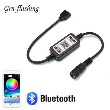 Inteligentna aplikacja kontroler Bluetooth RGB dla DC 5V 12V 24V 4pin 5050 2835 listwy RGB LED Light Wireless 4 Pin 5 5X2 1mm złącze zasilania tanie i dobre opinie GRN-FLASHING CN (pochodzenie) Bluetooth 4 0 Bluetooth control colorful Multiple modes 8-10M 1 Year 5V 30W 12V 72W 24V 144W
