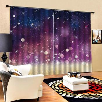 Solid color curtain Customized size Luxury Blackout 3D Window Curtains For Living Room stars curtains