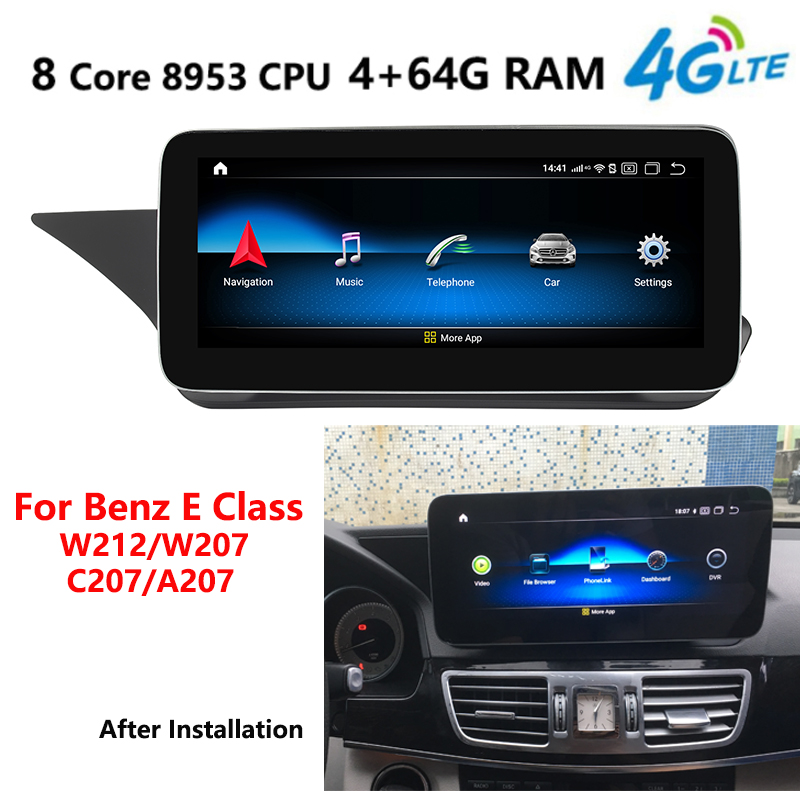 4G LTE 4+64G <font><b>Android</b></font> 9.0 Car multimedia player radio GPS For Mercedes <font><b>Benz</b></font> E Class <font><b>W212</b></font> W207 2009 2010 2011 2012 2013 2014 2015 image