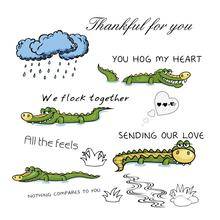 ZhuoAng Crocodile model Clear Stamps For DIY Scrapbooking/Card Making Decorative Silicon Stamp Crafts