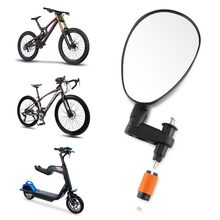 Universal 360 Rotate Cycling Handlebar Wide Angle Rear view Mirror Flexible Adjustable Bicycle Mirrors Riding Safe Accessories(China)