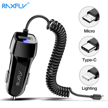 RAXFLY автомобильное зарядное устройство Автомобильное USB быстрое зарядное устройство 3,0 Для Xiaomi автомобильное зарядное устройство для мобильного телефона Micro type C Быстрый кабель для iPhone зарядное