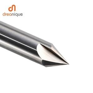 Image 5 - Cnc タングステン超硬面取りフライスカッターアルミ銅、 60 90 120 度バリ取りエンドミル 90 度の v 溝ルータービット