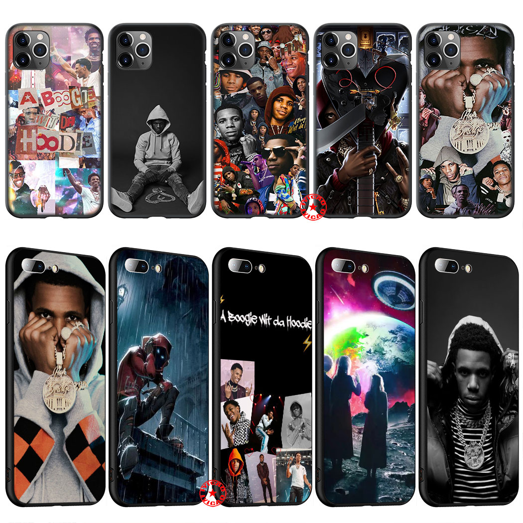 Il1 um boogie sagacidade da capa de silicone macio com capuz para iphone 11 pro xs max xr x 8 7 6 s plus 5 5S se capa