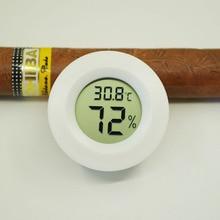 Cigar accessories New Round Digital Cigar Humidor Temperature Hygrometer Thermometer Tool Cigar accessories