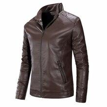 Men Autumn Motorcycle Biker Causal Vintage Leather Jacket Coat Men Spring Masculinas Inverno Couro Jacket Cazadoras Hombre Men