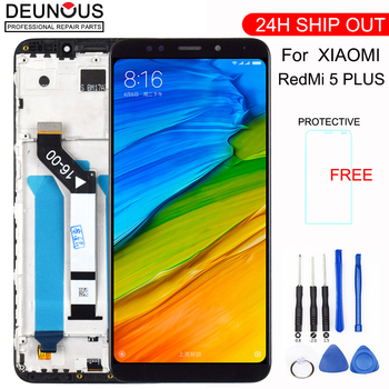 For Xiaomi Redmi 5 Plus LCD Display Digitizer Frame 10 points Touch Screen Redmi Note 5 Global LCD Original Replacement Parts