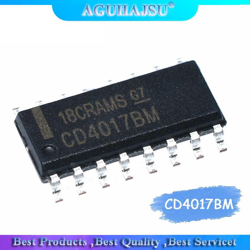 10PCS CD4017BM CD4017 4017 SOP-16 SMD COUNTERS//DIVIDER NEW ck