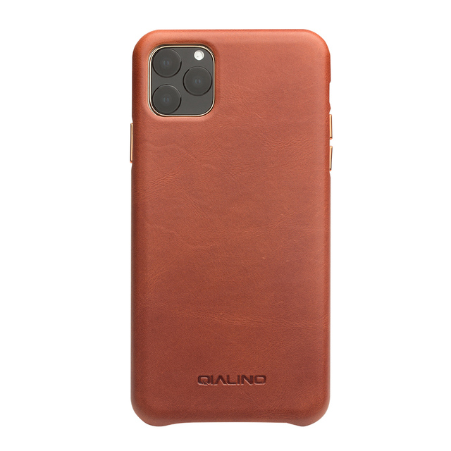 QIALINO 本革スリム電話ケース iphone 11/11 プロファッションピュアハンドアンチノック iphone 11 プロマックス