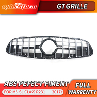 NEW SL class R231 GT style racing grille Sport ABS silver for mercedes sl r231 car styling accessories 2017+