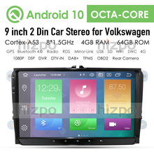 Android 9.0 PX5 Araba Multimedya oynatıcı 2Din Araba GPS VW/Volkswagen/Golf/Polo/Tiguan/ passat/b7/b6/KOLTUK/leon/Skoda/Oktavia Radyo