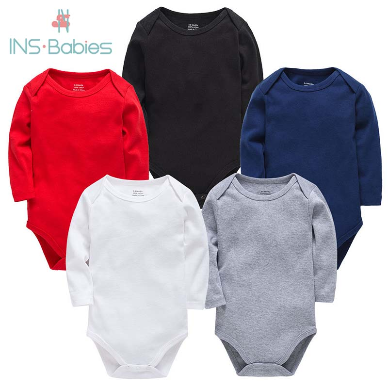 2020 Autumn Newborn Baby Clothes For Baby Boys & Girls  Cotton Long Sleeve 13 Candy Colors Mother Kids Clothing Climbing Pajamas