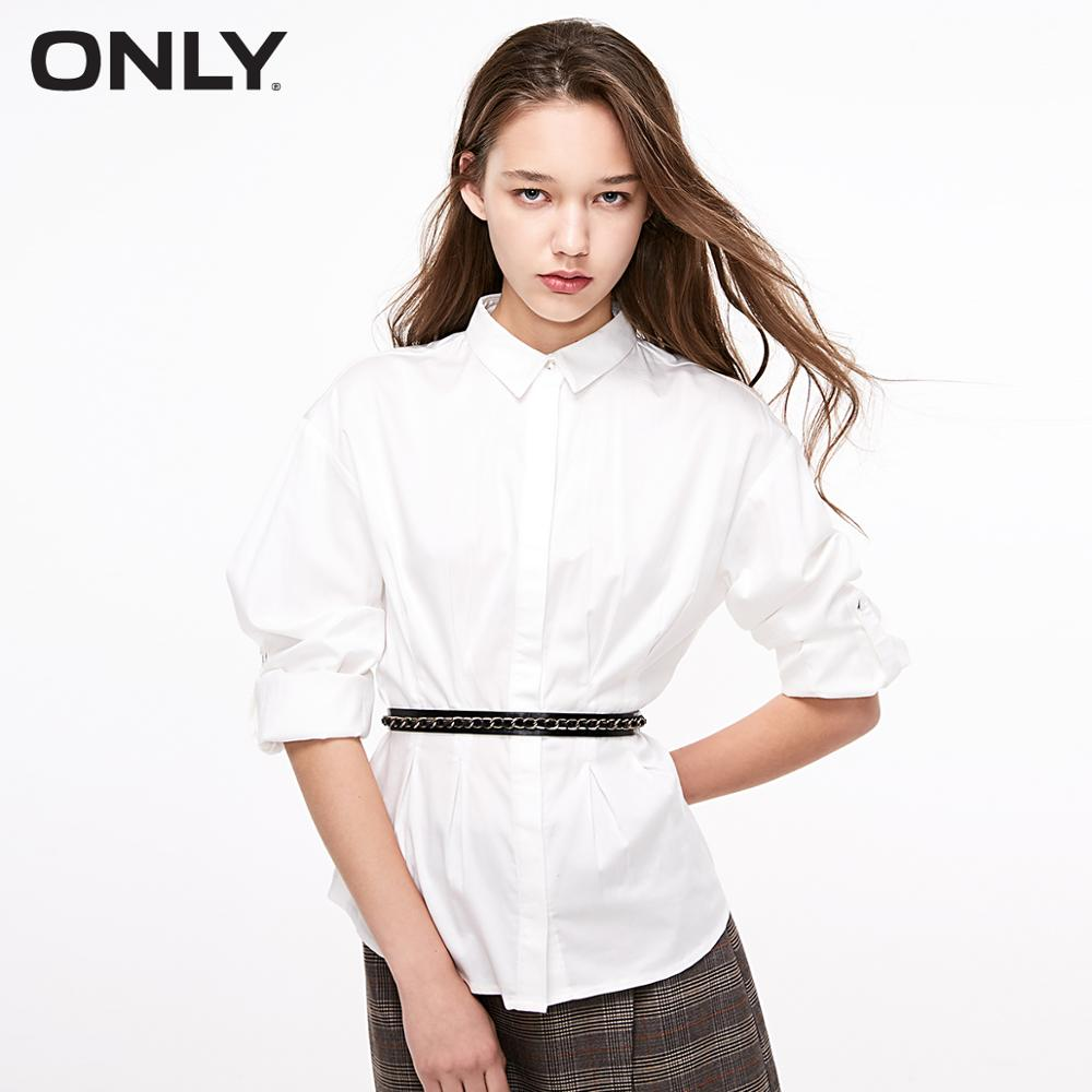 ONLY Women's Pleated Long-sleeved Shirt | 119105502