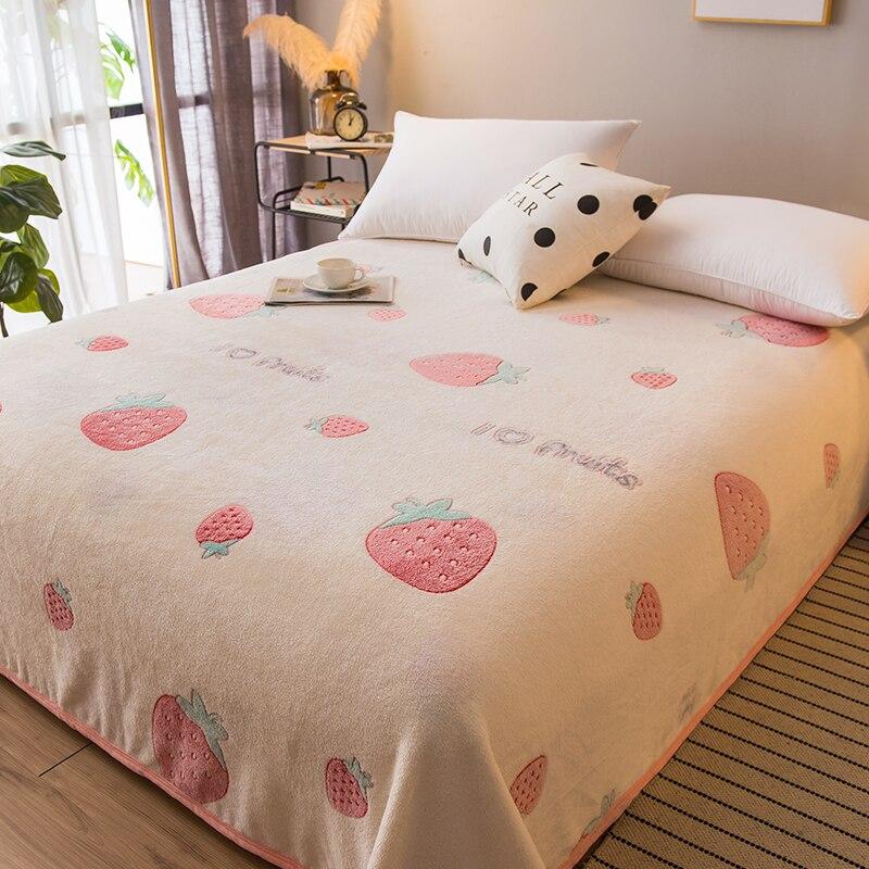 Soft Blanket Coral Fleece Warm Blanket for All Season Velvet Plush Throw Blanket Cartoon Pattern Modern Blanket for Couch Travel