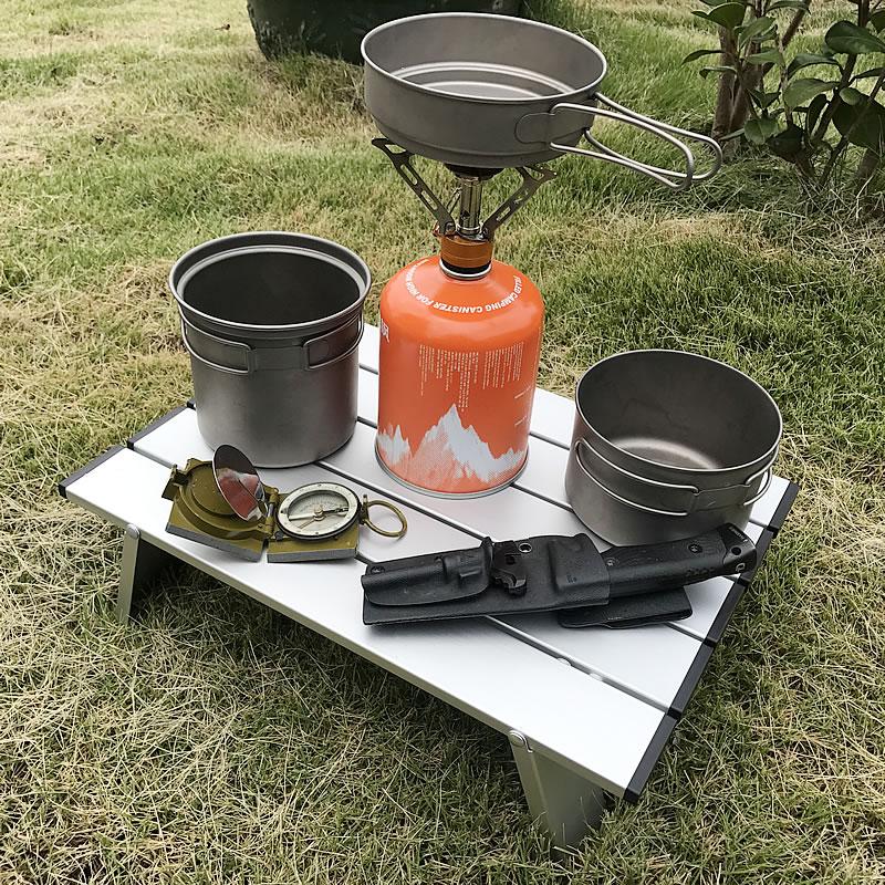 Portable Mini Picnic Table Beach Camping Travel 7075 Aluminum Ultralight Folding Waterproof Foldable 40*29*12 Cm