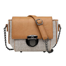 Mini New Fashion Chain Crossbody Bags for Women 2020 Messenger Shoulder Bags Cover PU Leather Sling Flap Cover Bag