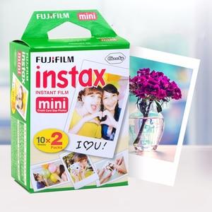 Image 2 - Original 40 sheets Fujifilm Instax mini 9 films white Edge 3 Inch for Instant Camera 7 8 25 50s 70 90 sp 1 sp 2 Photo paper