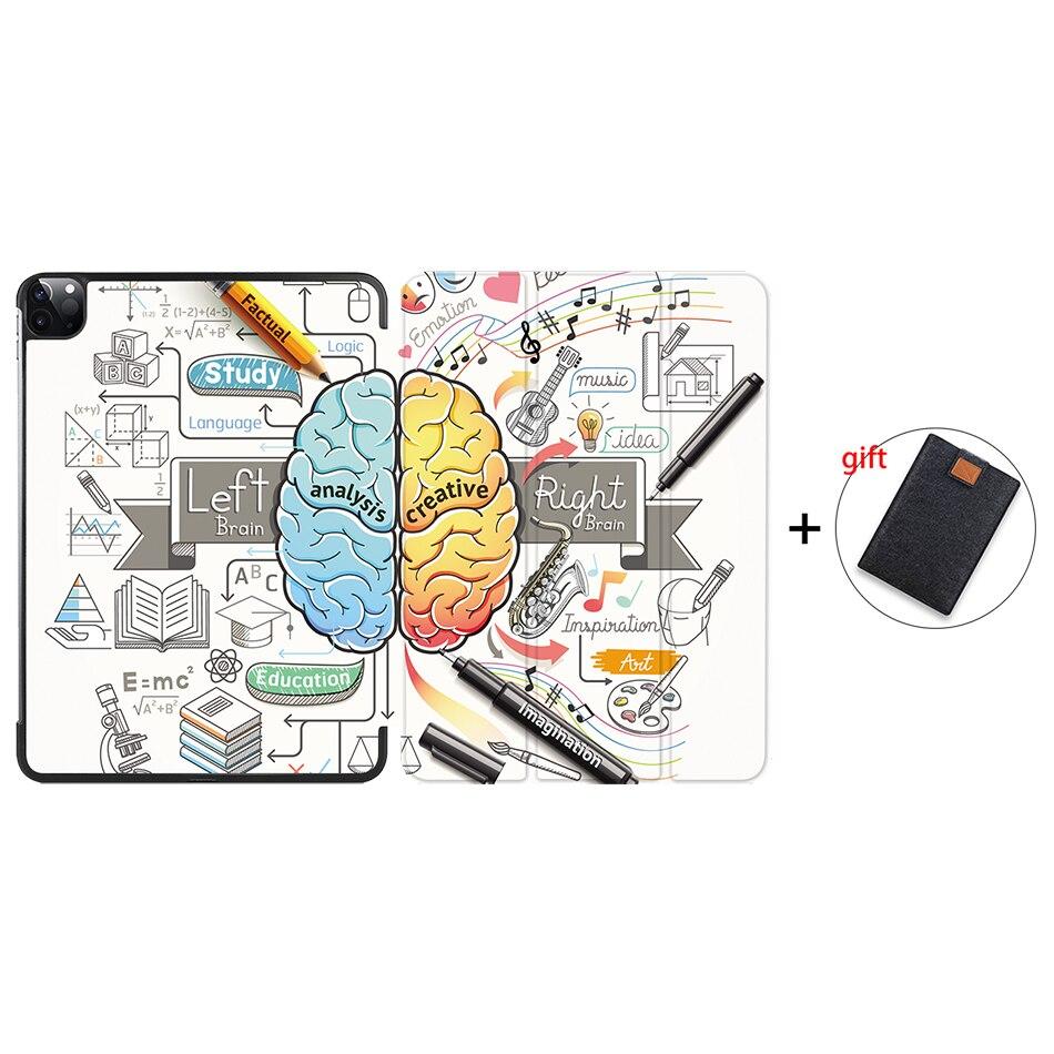 IP08 Purple MTT Case For iPad Pro 11 inch 2nd Gen 2020 Funda A2228 A2231 Slim PU Leather