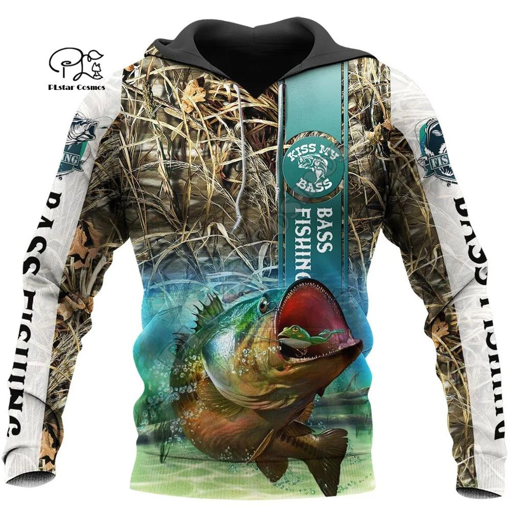 PLstar Cosmos Animal Bass Carp Fishing NewFashion Fisher Tracksuit Pullover 3Dprint Unisex Zipper/Hoodies/Sweatshirts/Jacket S14