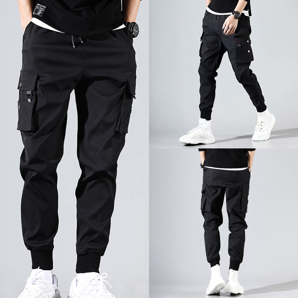 Men's New Style Splicing Disassemblable Pants And Two-Piece Overall Fashion Pant Overalls Men Cargo Pants Mens Pants Fashions