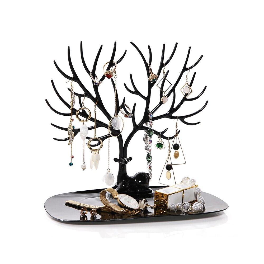 Cute Deer Earrings Jewelry Display Tree Of Life Necklace Rings Jewelry Displays Stand Tray Tree Storage Racks Organizer Holders