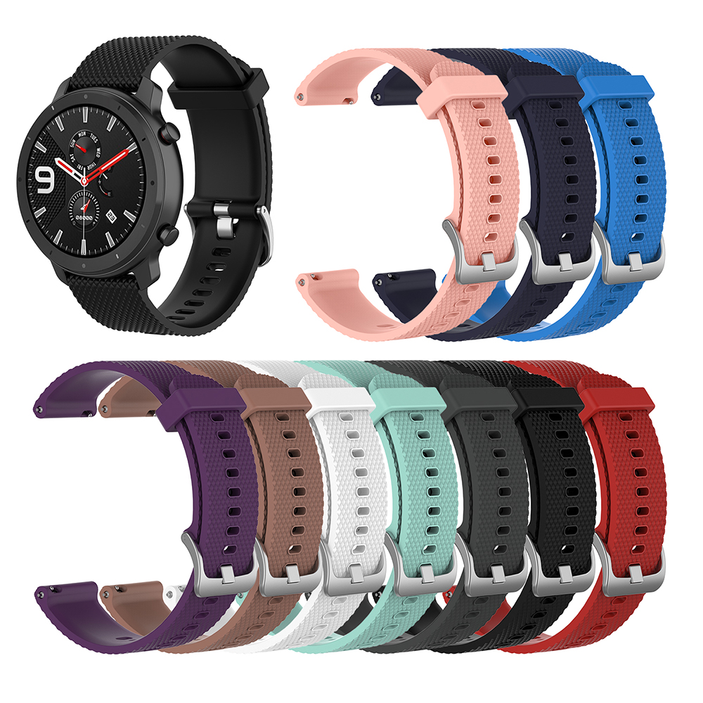 For Amazfit GTR 42/47mm Wristband Watch Band Silicone Replacement Strap 47mm Width