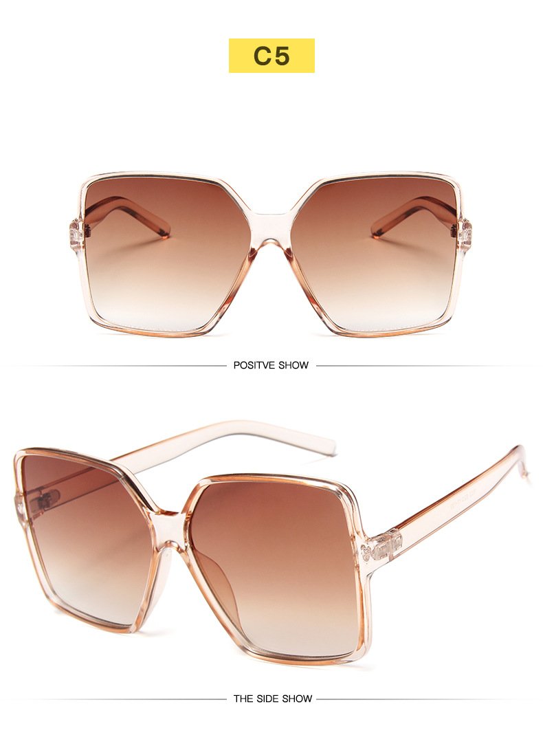 H3344b4f574734b9e8542edc4700def386 - Oversized Sunglasses Women Vintage Brand Sun Glasses Shades UV400 Big Frames Sunglass Female  Male Retro Eyewear Pink White